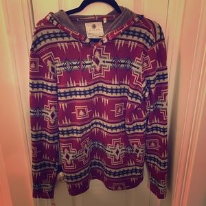EUC On the Byas Pacsun men's tribal hoodie small